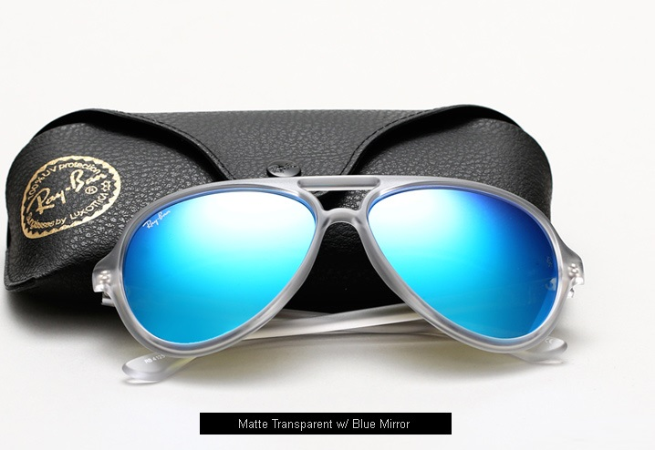ray ban sunglasses blue aviator  ray ban sunglasses blue and white