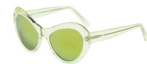 Andy Wolf Sugar A Yellow Crystal Gold sunglasses