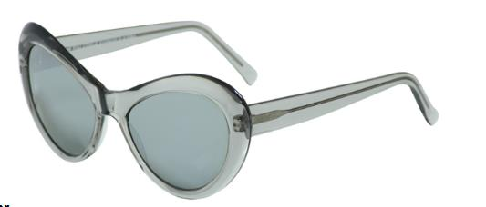 Andy Wolf Sugar B Grey Crystal/Silver Mirror sunglasses