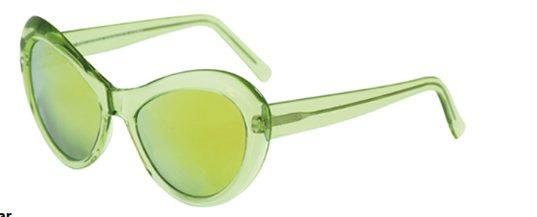 Andy Wolf Sugar D Crystal Green/ Green Mirror sunglasses