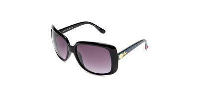 Betsey Johnson BJ244 Rvsgr Raven Frame Smoke Gradient Lens sunglasses