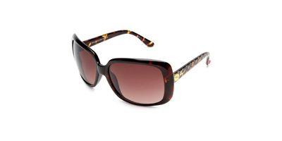 Betsey Johnson BJ244 Tobrg Tortoise Frame Brown Gradient Lens sunglasses
