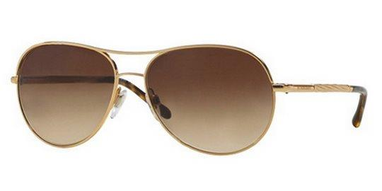 f44285044c7 Burberry BE3082 121013 Gold Brown Gradient sunglasses