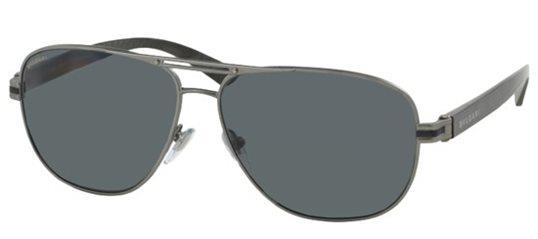 Bvlgari BV5033 195/81 Matte Ruthenium/Grey Polarized Sunglasses