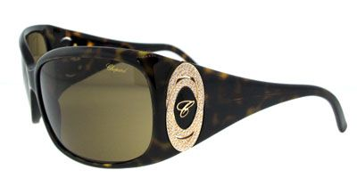Chopard SCH063 722 Dark Havana Olive Green sunglasses