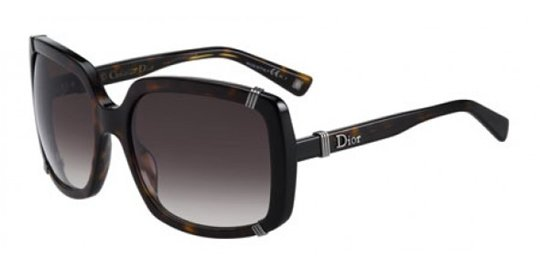 Christian Dior Dior Chicago 1/S 0086 Dark Havana Gray Gradient Lens sunglasses