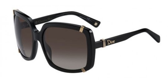 Christian Dior Dior Chicago 1/S 0807 Black Brown Gradient Lens sunglasses