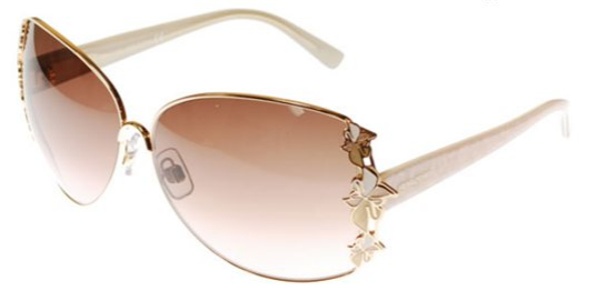 Daniel Swarovski SK0010 28F Gold w/Brown Gradient Lenses sunglasses