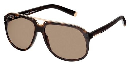Dsquared DQ0005 52E Gold Dark Tortoise/Brown sunglasses