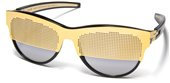 IC Berlin A0560 Dr Ihab Dots Matte Gold Obsidian sunglasses