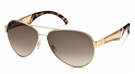 John Galliano JG0015 Masculine 28F Gold sunglasses