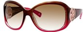 Juicy Couture Bff Strass/S 0DD3 Brown Pink Fade (brown Gradient Lens) sunglasses