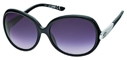 Just Cavalli JC318S 01B Shiny Black, Palladium, Gradient Dark Grey Lenses sunglasses