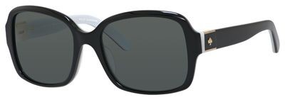 2c792ce7814 Kate Spade Annora P S 0QOP RA Black White sunglasses