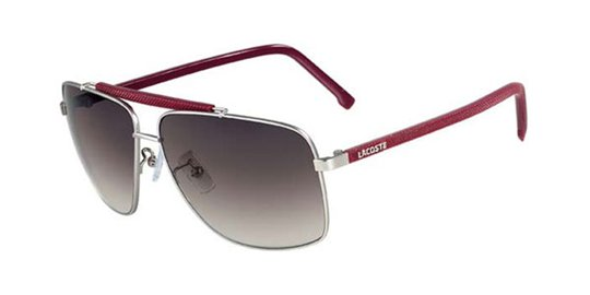 Lacoste L119S 045 Gunmetal Red sunglasses
