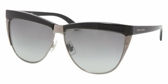 Miu Miu MU 11LS 1AB5D1 Gloss Black/GrayGradient sunglasses