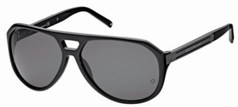 Mont Blanc MB363S 01A Black sunglasses