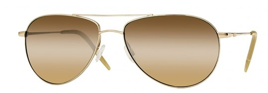 Oliver Peoples Benedict Gold With Chrome Amber (photochromatic) sunglasses