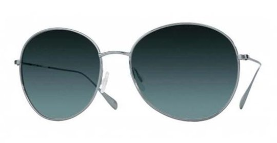 Oliver Peoples Blondell Blue Chrome With Blue Gradient Polarized Lens sunglasses