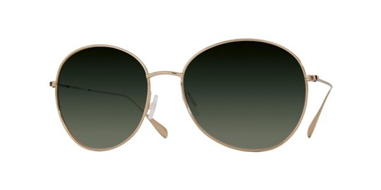 Oliver Peoples Blondell Gold With Green Gradient Polarized Lens sunglasses