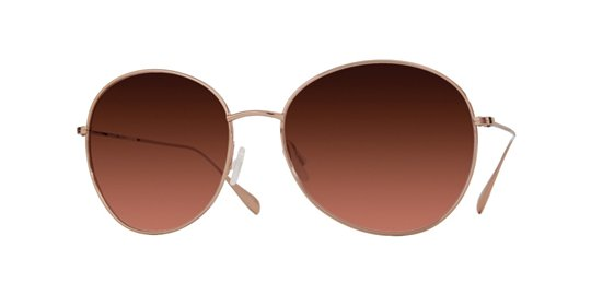 Oliver Peoples Blondell Rose Gold With Copper Gradient Polarized Lens sunglasses