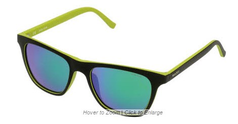 ab03102ef0 CLICK IMAGE TO ENLARGE Police. Police S1936M 7VHV BLACK-GREEN MIRRORED  GREEN sunglasses