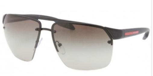 797eb634d0 Prada Sport PS 57OS 1BO4M1 Black Demi Shiny sunglasses