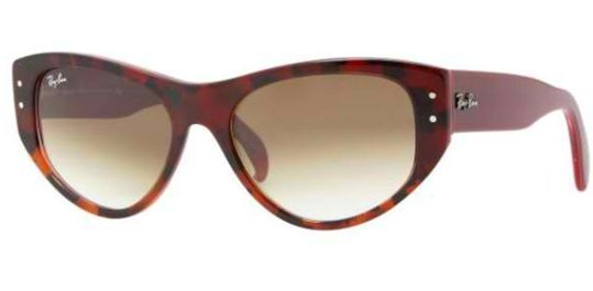 Ray Ban RB4152 106751 Red Havana Bordeaux Brown Shaded sunglasses