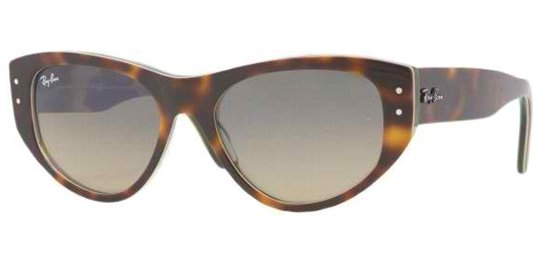 Ray Ban RB4152 107373 Crystal Gray/Green Gradient sunglasses