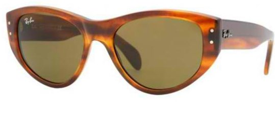 Ray Ban RB4152 820 Striped Havanna sunglasses