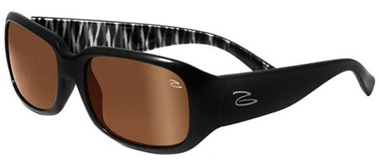 Serengeti Cosmopolitan Giuliana 7708 Shiny Black Zebra  sunglasses