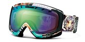 Smith Optics Goggles Phenom Spherical Series Black Blogosphere With Green Sol x Mirror Lens sunglasses