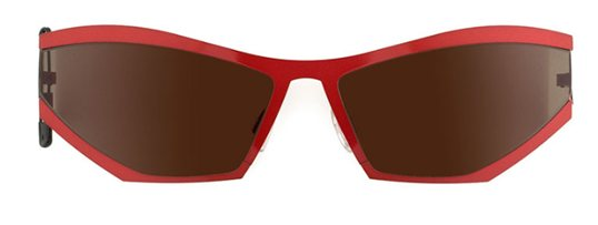 Theo Coris 36 Hot Red Shine sunglasses