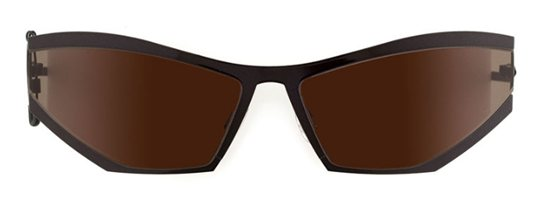 Theo Coris 56 Black Metallic Shine sunglasses