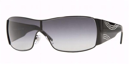 58075520a467 Versace 2081B 10098G Black Gray Gradient sunglasses